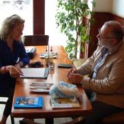 Maike Wöhler im Gespräch mit Dimitrios Moulas