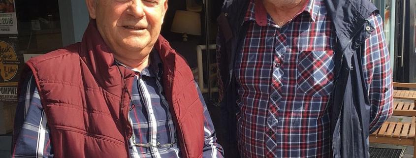 Dimi Danides und der frühere Kollege Werner Ahrens (ehemaliges BR-Mitglied der Olympia-Werke)